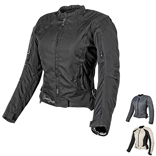 Speed and Strength Heart and Soul Women's Mesh Street Bike Racing Motorcycle Jacket - Black/Silver / Medium