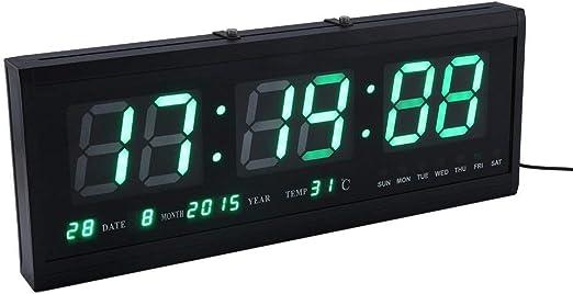 Yangyme Reloj Decorativo Reloj Digital Grande con Calendario LED ...