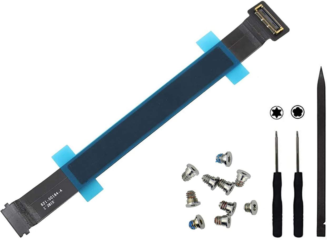 New Touchpad Trackpad Track Pad Ribbon Flex Cable Replacement,OBKJJ Flex Cable Repair Tool Compatible with Part 821-00184-A for Apple MacBook Pro Retina 13