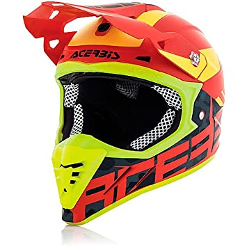 Casco Moto Cross Enduro Acerbis Profile 3.0 BlackMamba Rojo/Amarillo Extra Extra Large