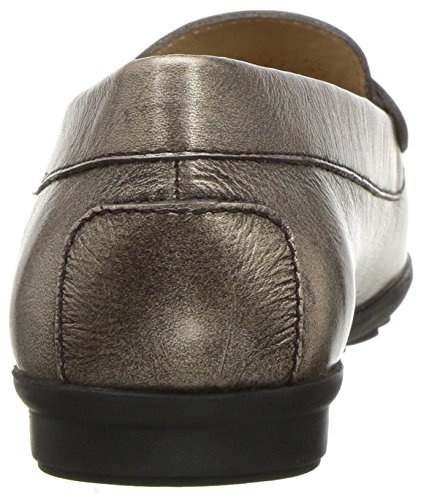 Geox Women's Elidia 5 Slip-on Loafer, Champagne/Anthracite, 35 EU/5 M US by Geox (Image #2)