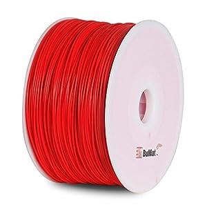BuMat PLAFR-E Elite PLA Filament 1.75mm 1kg 2.2lb Printing Material Supply Spool for 3D Printer, Fluorescent Red