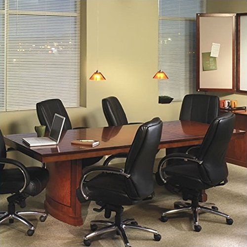 - Mayline SC24SCR Sorrento Rectangle Conference Room Table, 24'W x 4.5'D, Bourbon Cherry Veneer