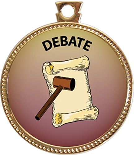 "Debate Award, 1 inch dia Gold Medal ""Special Knowledge Collection"" by Keepsake Awards"