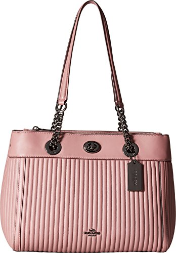 COACH Women's Turnlock Edie Carryall in Quilted Leather Dk/Dusty Rose One Size