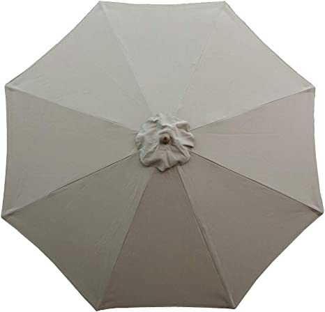 9ft Market Umbrella Replacement Canopy 8 Ribs Taupe Canopy Only Amazon Ca Patio Lawn Garden
