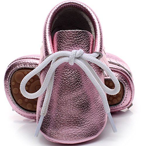 Pictures of HONGTEYA Leather Baby Shoes Hard Sole Lace 1