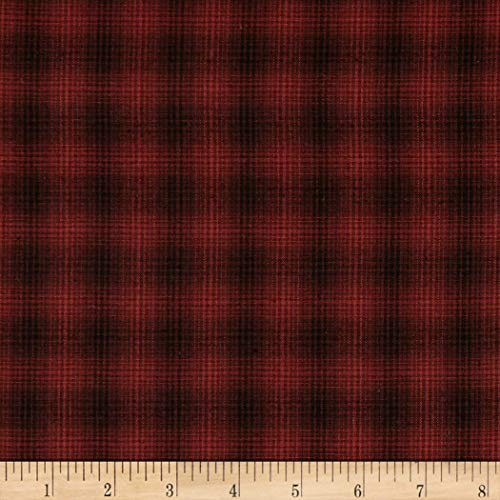 HENRY GLASS & CO. Itty Bitty Yarn Dye Small Plaid Red Fabric by The Yard