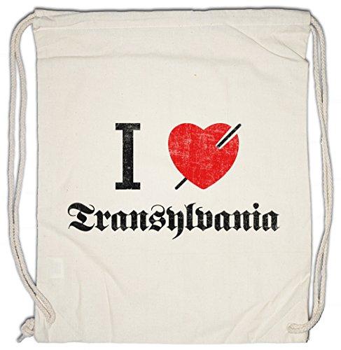 I LOVE TRANSYLVANIA Drawstring Bag Gym Sack