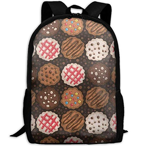 Christmas Cookies Chocolate Chip Cookie Argentina Flag Unique Outdoor Shoulders Bag Fabric Backpack Multipurpose Daypacks For -