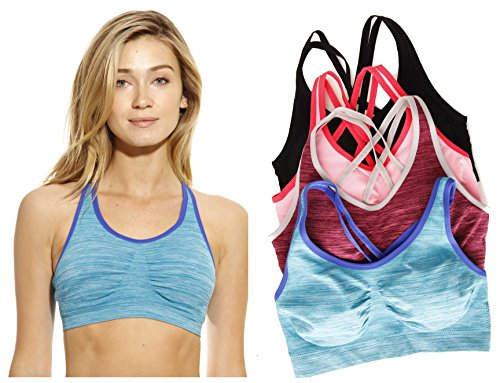 Just Intimates 4P-201007-A-S Sports Bra/Bras (Pack of 4)