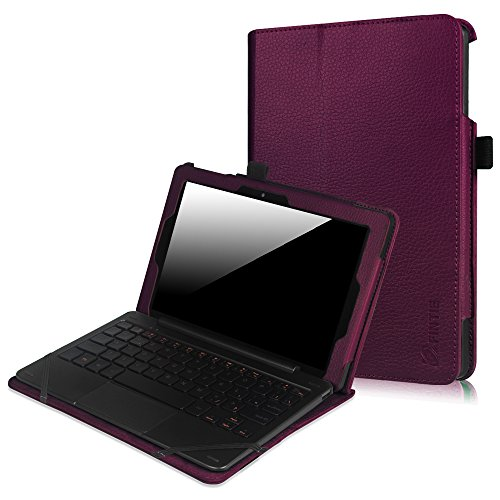"""Price comparison product image Fintie Nextbook Flexx 9 Tablet Case - Premium Vegan Leather Folio Cover with Auto Wake / Sleep Feature for Nextbook Flexx 9 8.9"""" (NXW9QC132) 2-in-1 Tablet Detached Windows 10 Laptop Notebook,  Purple"""