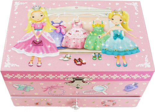 Lily & Ally / Princess Musical Jewelry Box, with Melody of