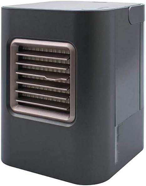 LYzpf Aire Acondicionado Mini Enfriador Portatil Ventilador Purificador Humidificador Climatizador Evaporativo Salud para Hogar Oficina,Black: Amazon.es: Deportes y aire libre