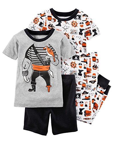 Carter's Boys' 4 Piece Pirate Pajama Set 2T (4 Piece Pirate Set)