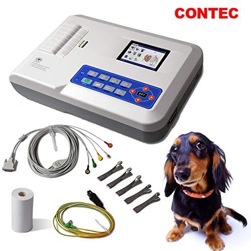 CONTEC Veterinary Digital 3-Channel 12 Leads Electrocardiograph Vet ECG EKG Machine (Three Channel)