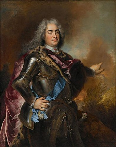 'Nicolas De Largilliere,Augustus The Strong, Elector Of Saxony And King Of Poland,ca.1714-1715' Oil Painting, 24x30 Inch / 61x77 Cm ,printed On High Quality Polyster Canvas ,this High Definition Art Decorative Canvas Prints Is Perfectly Suitalbe For Gift For Relatives And Home Decoration And