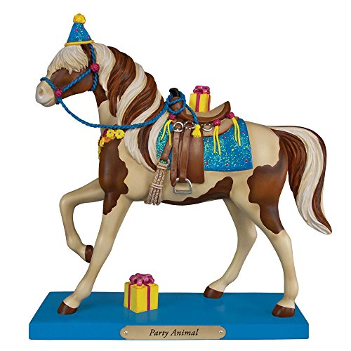 (Trail of Painted Ponies Party Animal Horse with Presents Figurine 4049717)
