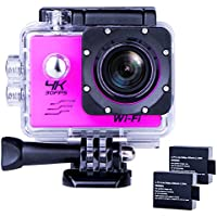 Sports Action Camera Ultra HD Waterproof DV Camcorder 4K WIFI Cam 1080P 170 Degree Wide Angle Pink