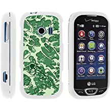 LG Extravert 2, Stylish Personalized Protective Snap On Hard Case Phone Protector for LG Extravert 2 VN280 (Verizon) by MINITURTLE - Leaves of Green