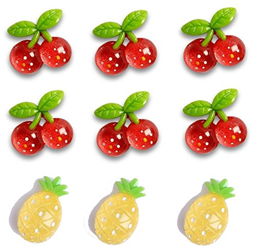 Kitchen Magnets Cute Fridge Magnets Colorful Refrigerator Magnets Whiteboard (Fruit Cherry) Red Refrigerator Magnet