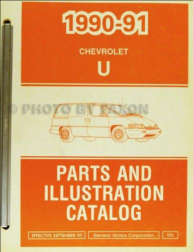 1990-1991 Chevrolet Lumina APV Parts Book Original