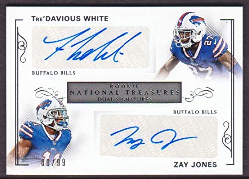 2017 Panini National Treasures Football Rookie Dual Signatures Tre'Davious White/Zay Jones Auto 80/99