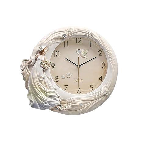 NSSQ Inicio Arte Relojes Europeos Personalidad Creativa Sala de Estar Reloj de Pared Moderno Minimalista Gráficos