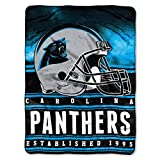 """Officially Licensed NFL Carolina Panthers Stacked Silk Touch Throw Blanket, 60"""" x 80"""""""
