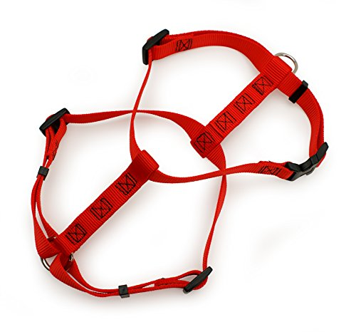 Nyl Adjustable Harness - Aspen Pet Products Adjustable Nyl Harness, Red, 28-36