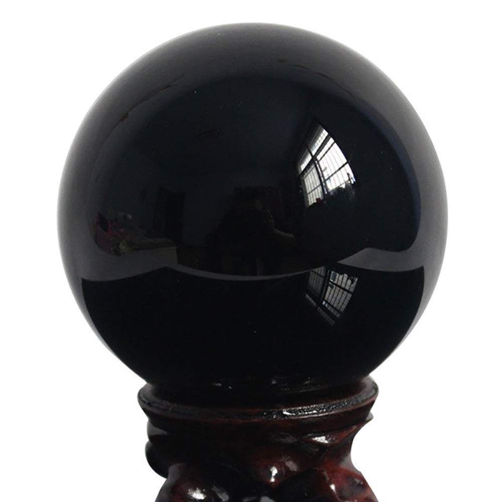FENGJJ Crystal Ball - Natural Obsidian Crystal Ball Decoration Modern Crystal Decoration Decoration Home Office Crafts,9cm