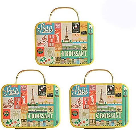 Europe Style Vintage Small Suitcase Shape Candy Storage Box Organizer Container
