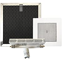Carbon Filter, Ozone Plate, Lamp and Starter for EcoQuest Fresh Air 120 and others by CP3