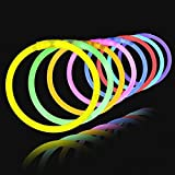 Lumistick Authentic 8 Inch Glow Sticks - Bendable Glow Sticks with Necklace and Bracelet Connectors - Glowstick Bundle…