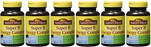 Nature Made Super B Complex jHfyo Full Strength - 60 Count Bottle (6 Pack) by Nature Made