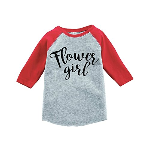 Custom Party Shop Youth Girl's Flower Girl Wedding Red Raglan Large by Custom Party Shop