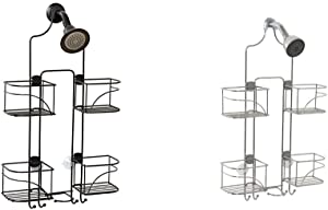 Zenna Home Expandable Over-The-Shower Caddy, Bronze & Expandable Over-The-Shower Caddy, Chrome