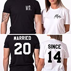 Married Since Mr Mrs Couples Shirts