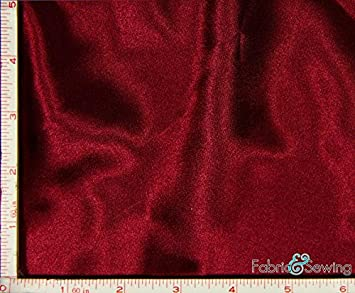 Jade Green Shiny & Dull Charmeuse Satin Fabric Polyester 5 Oz 58-60 Fabric and Sewing