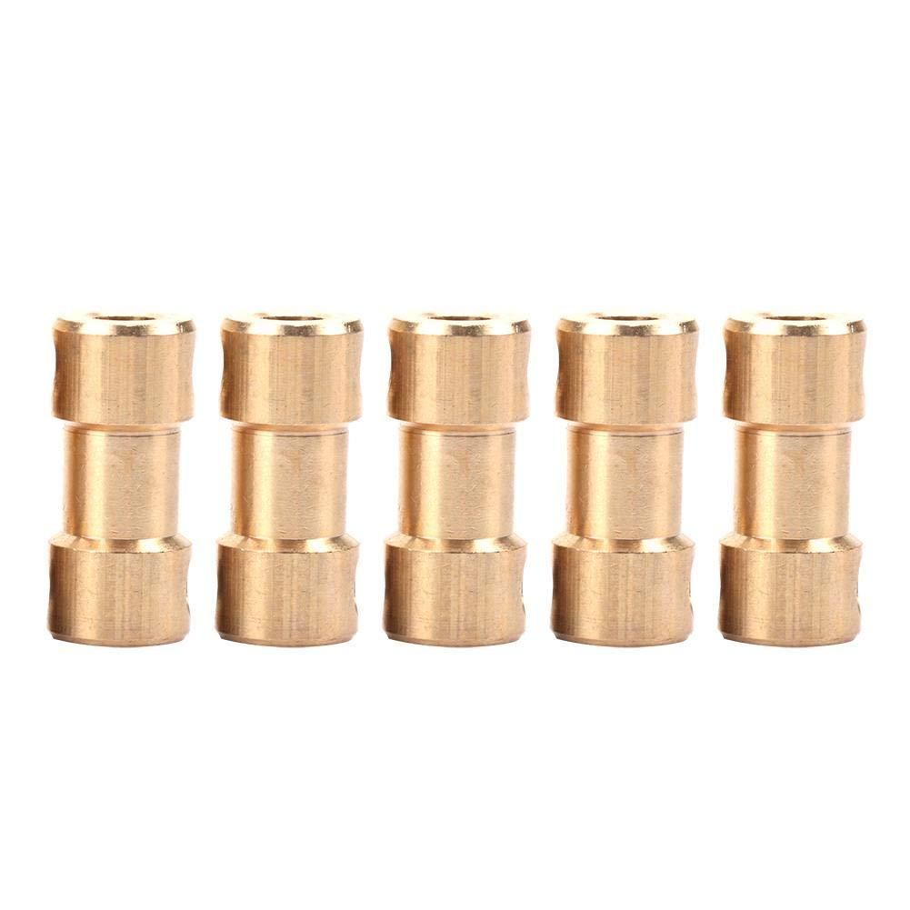 Shaft Coupler 6mm-6mm 5pcs Motor Copper Shaft Coupling Coupler Connector Sleeve Transfer Joint Adapter