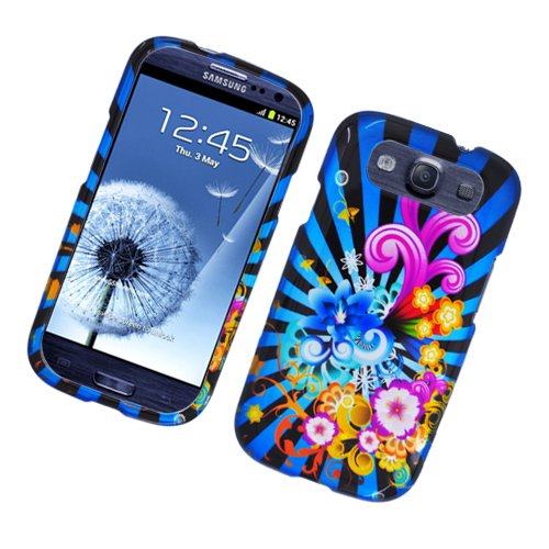 Cell Accessories For Less (TM) Samsung Galaxy S3 i9300 - Glossy 2D Design Case Colorful Fireworks 170 Bundle (Stylus & Micro Cleaning Cloth) - By TheTargetBuys