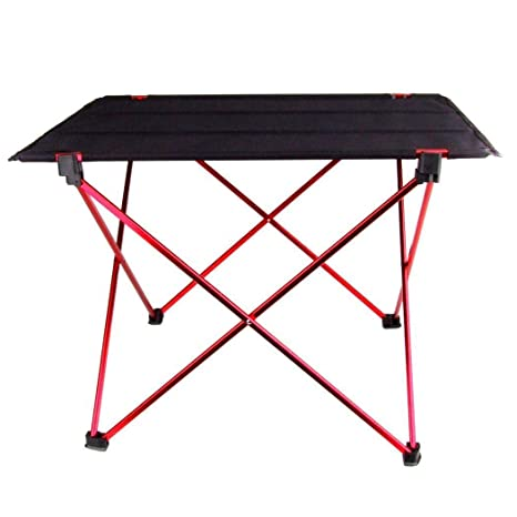 Strong Camel Portable Aluminum Camping Folding Picnic Kitchen Table wCarry Handle and Storage
