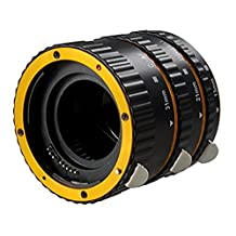Inseesi Metal Mount Auto Focus AF Macro Extension 13mm Tube +21mm Tube+31mm Tube for Canon EOS EF EF-S 1D X 60D 7D 6D 5D Mark III (yellow)