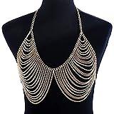 Shiny Body Chain Sexy Golden Tassel Harness