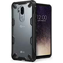 LG G7/G7 ThinQ Case, Ringke [Fusion-X] Ergonomic Transparent [Military Drop Tested Defense] PC Back TPU Bumper Impact Resistant Protection Shock Absorption Technology Cover for LG G7 (2018) – Black