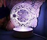 Cardcaptor Sakura Magical Clow Magic matrix Shaped Colorful Light LED Night Lamp (Sakura) For Sale