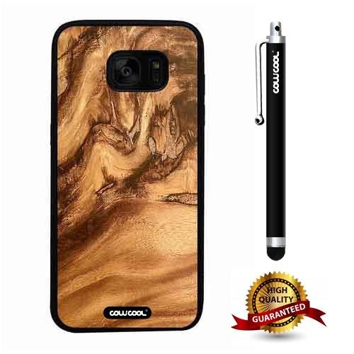 - Galaxy S7 edge Case, Wood Texture Case, Cowcool Ultra Thin Soft Silicone Case for Samsung Galaxy S7 edge - High Pressure Wood Chips Wood Texture