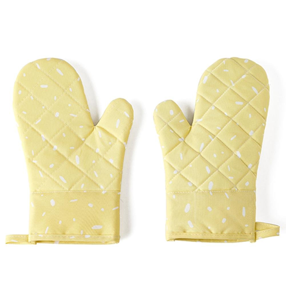 Ridecle Home Professional Silicone Oven Mitts/Gloves - 1 Pair Non-Slip Texture Silicone Handle Thickened Insulated Kitchen Baking Heat Resistant 500 Degrees for Microwave Pot Holders