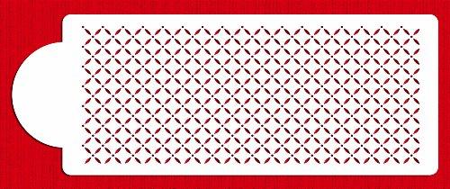 Designer Stencils C776 Eyelet Lattice Cake Stencil, Beige/semi-transparent