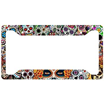 Custom Accessories Custom 92771 Sugar Skulls License Plate Frame